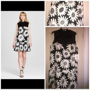 Victoria Beckham Black & White Daisy Dress